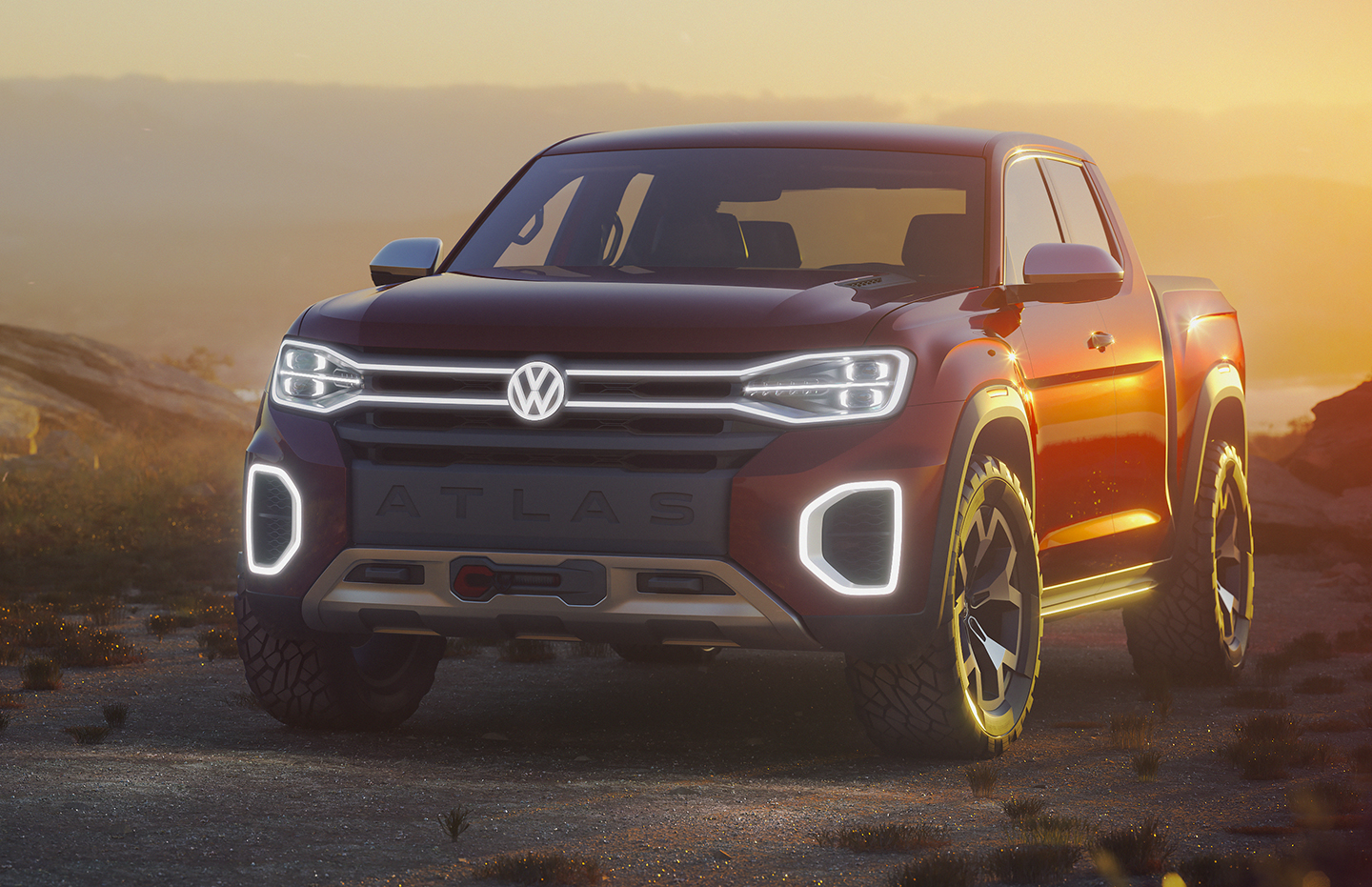 IS VW RE-ENTERING THE PICKUP MARKET? — the Atlas Tanoak pickup concept