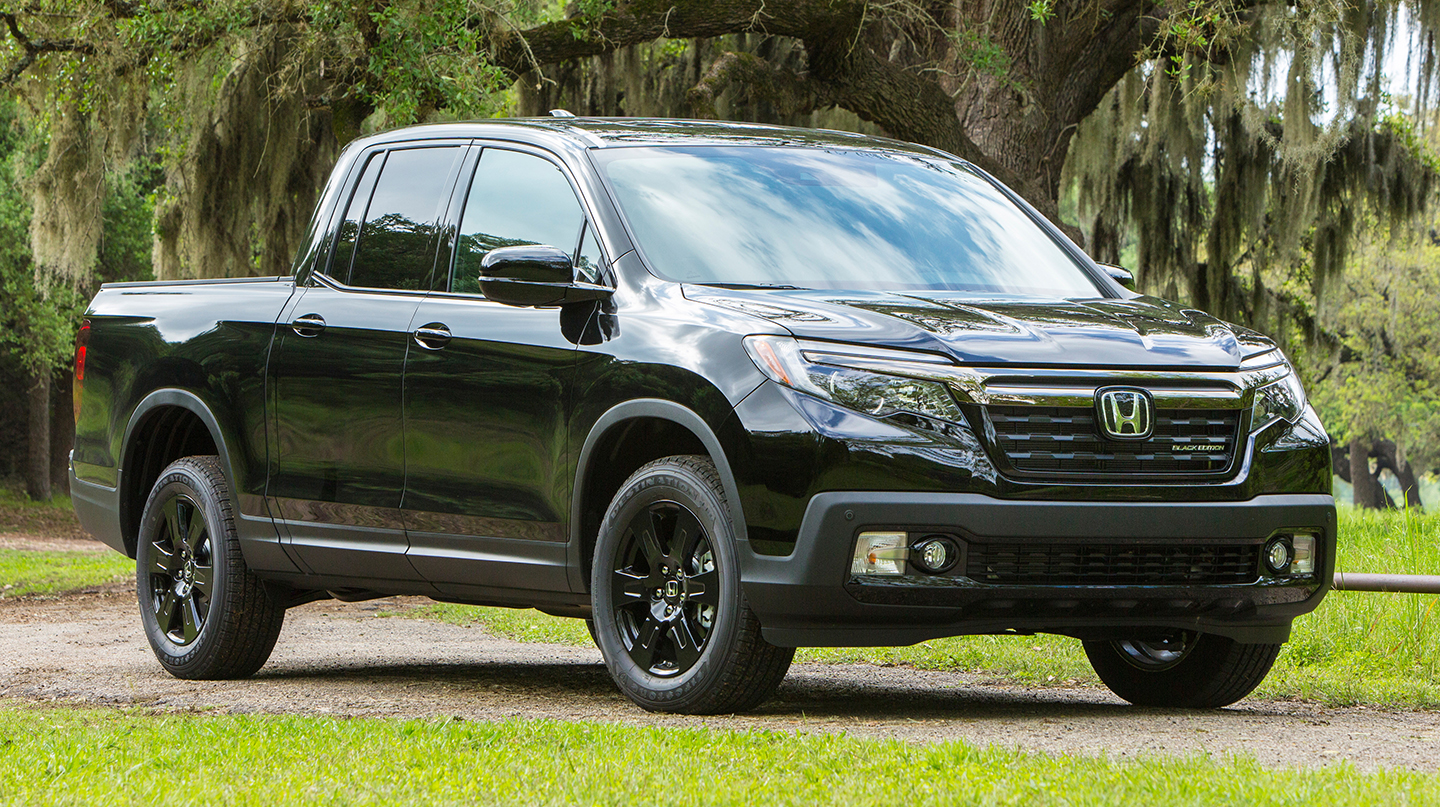 ANY COLOR, AS LONG AS IT'S BLACK  — 2018 Honda Ridgeline Black Edition