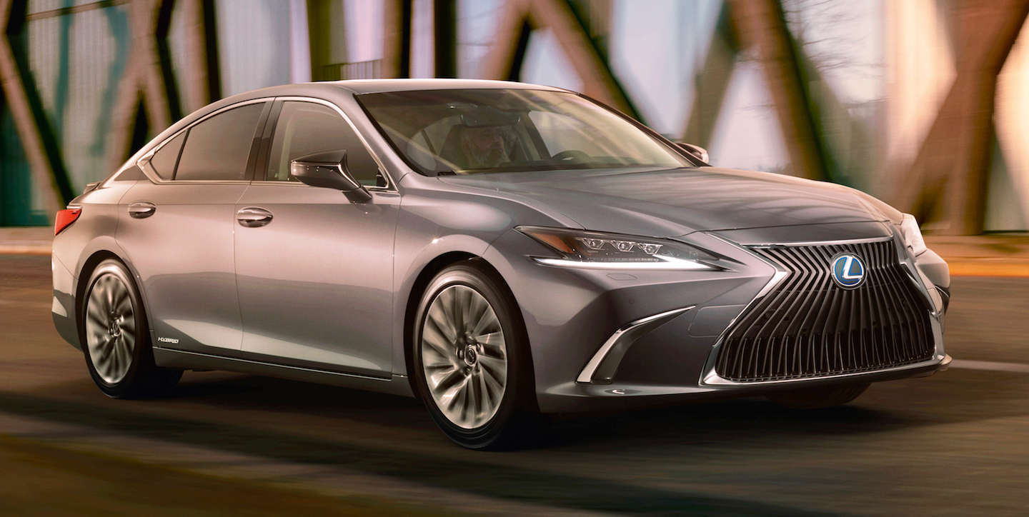 FULL FRONTAL ASSAULT — the 2019 Lexus ES